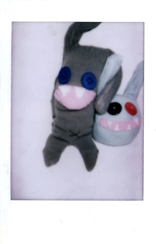 sock monster polaroid
