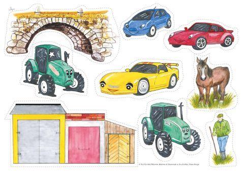 """Sagan påminner lite om den klassiska sagan om """"De tre Bockarna Bruse"""", men handlar istället om tre bilar och en traktor. Mycket uppskattad saga som barnen gärna vill höra om och om igen. Tips! Öva prepositionerna över, under, före, efter, etc. med bilarna och traktorn. Matematik: liten, stor och mittemellan. Ett, två tre… Låt fantasin flöda! © Text Per-Olof Wikström, bilderna är illustrerade av ... Read More"""