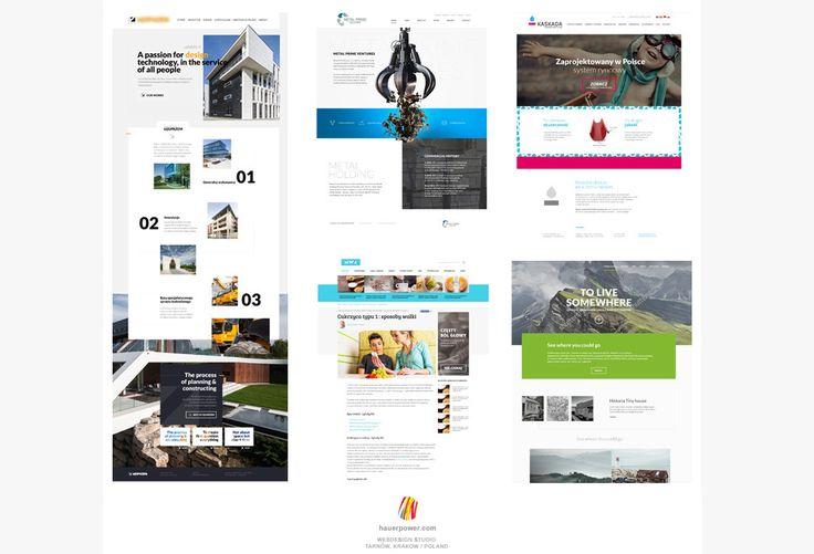 Najnowsze projekty z połowy 2016 roku studio Hauerpower.com. Przy okazji nowy oddział w Tarnowie uruchomiony :)   zapraszamy do komentowania shotu poglądowego na te kilka prac.   Staramy się żeby było ciekawie i minimalistycznie.