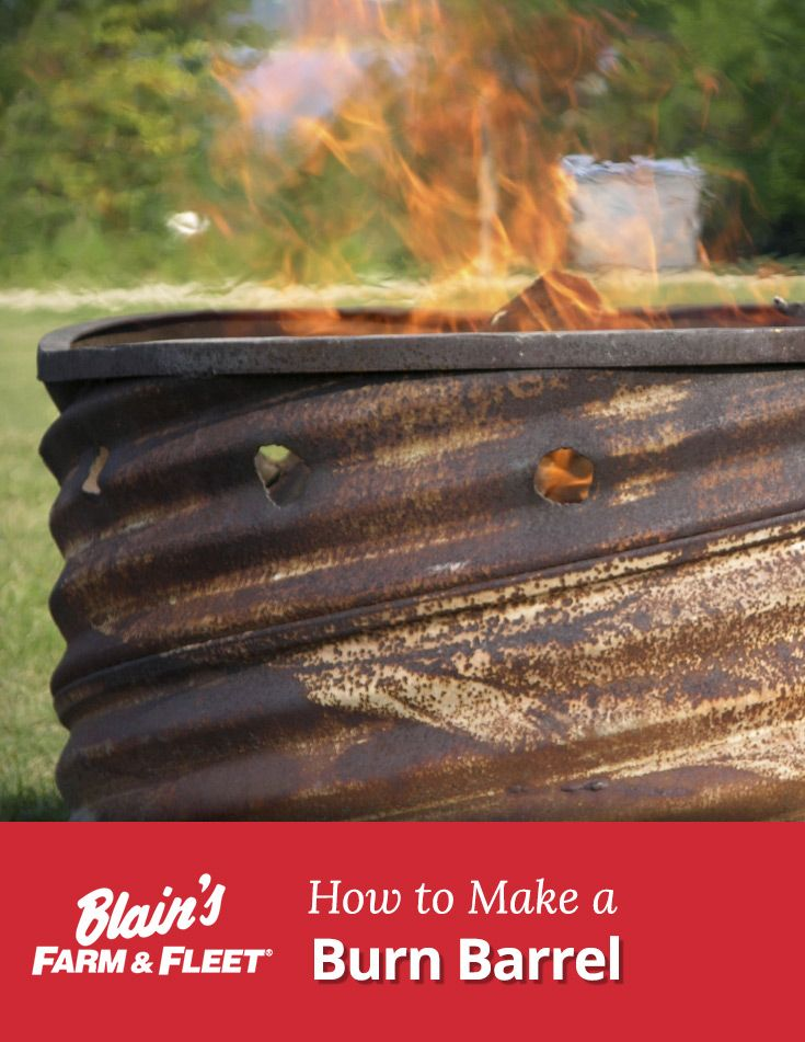Follow these simple steps to make your own burn barrel.