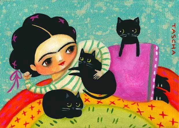 var. 12 - Frida Kahlo e il suo gatto, Tascha Parkinson