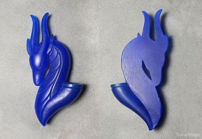Dragon flower holder wax carving by Dans-Magic.deviantart.com on @DeviantArt