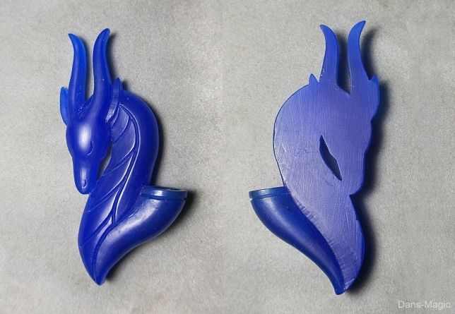 Dragon flower holder wax carving...♡