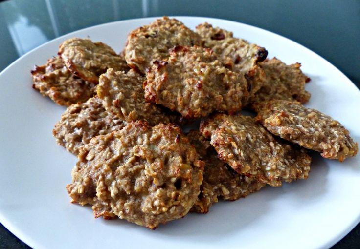 gezonde banaan-havermout koekjes. Zit ook niets anders  in, mijn kid smullen ervan. Oneindig veel variaties mogelijk