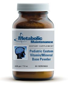 Product Detail - Multiples - Children - Pediatric Cust Vit/Min Base Powder 228 g (PEDI8) by Metabolic Maintenance