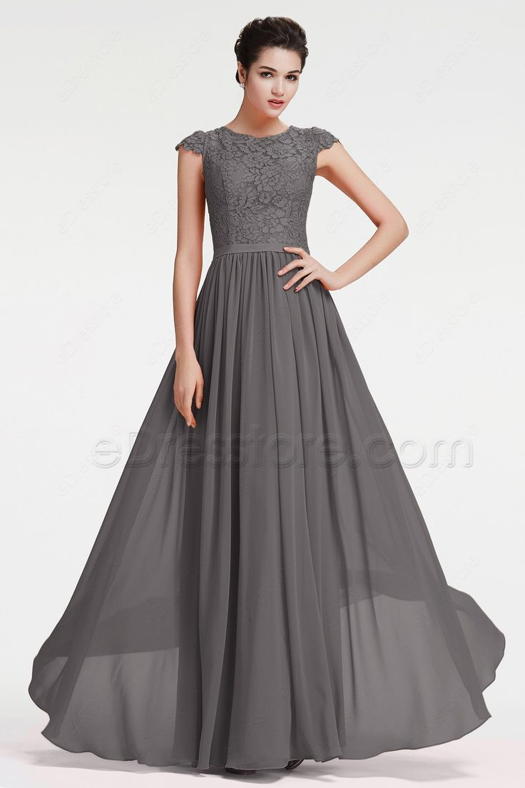 Best 10 charcoal grey bridesmaid dresses ideas on pinterest modest charcoal grey bridesmaid dresses cap sleeves ombrellifo Images