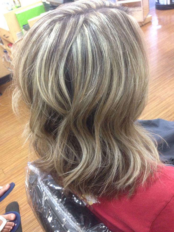 Heavy Weave Blonde Highlights My Work Pinterest Grey