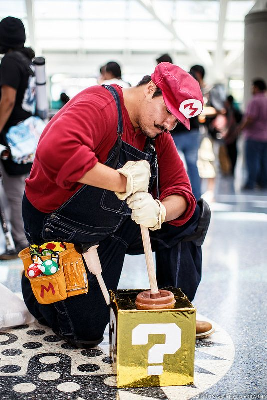 Nice tool belt, Mario! #Cosplay | Anime Expo 2014