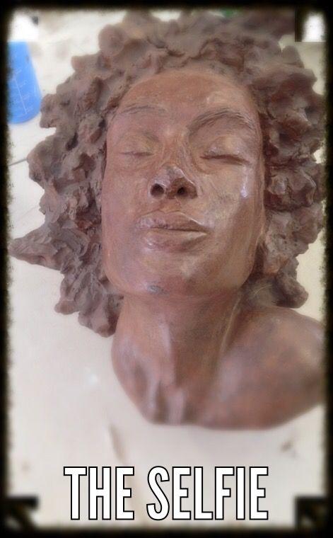 Auto portrait in clay