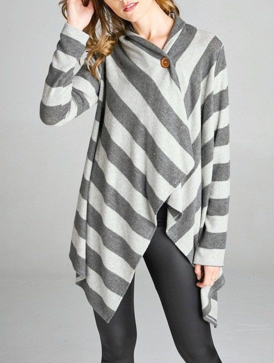 Season cutest striped poncho that is so stylish and comfortable  you won't want to take it off!!