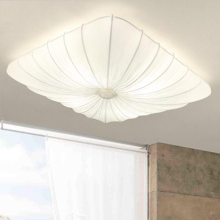 SKAPETZE -    Virgo / Deckenleuchte 60 x 60 cm mit Stoffbespannung / weiss Innenleuchten Deckenleuchten