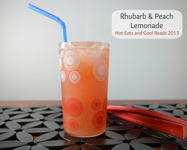 Rhubarb and Peach Lemonade. Doesn't that sound amazing?? It is so delicious and refreshing!