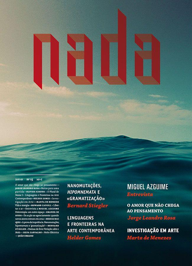Nada Magazine cover - Martin JohanssonNada Magazines, Magazine Covers, Martin Johansson, Layout Design, Graphics Design, Covers Design, Magazines Layout, Editorial Design, Magazines Covers