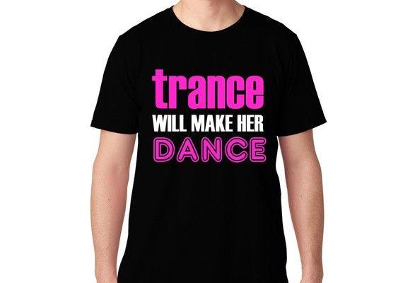 FTD Apparel Men's Trance Will Make Her Dance EDM Rave Concert T Shirt- Pink