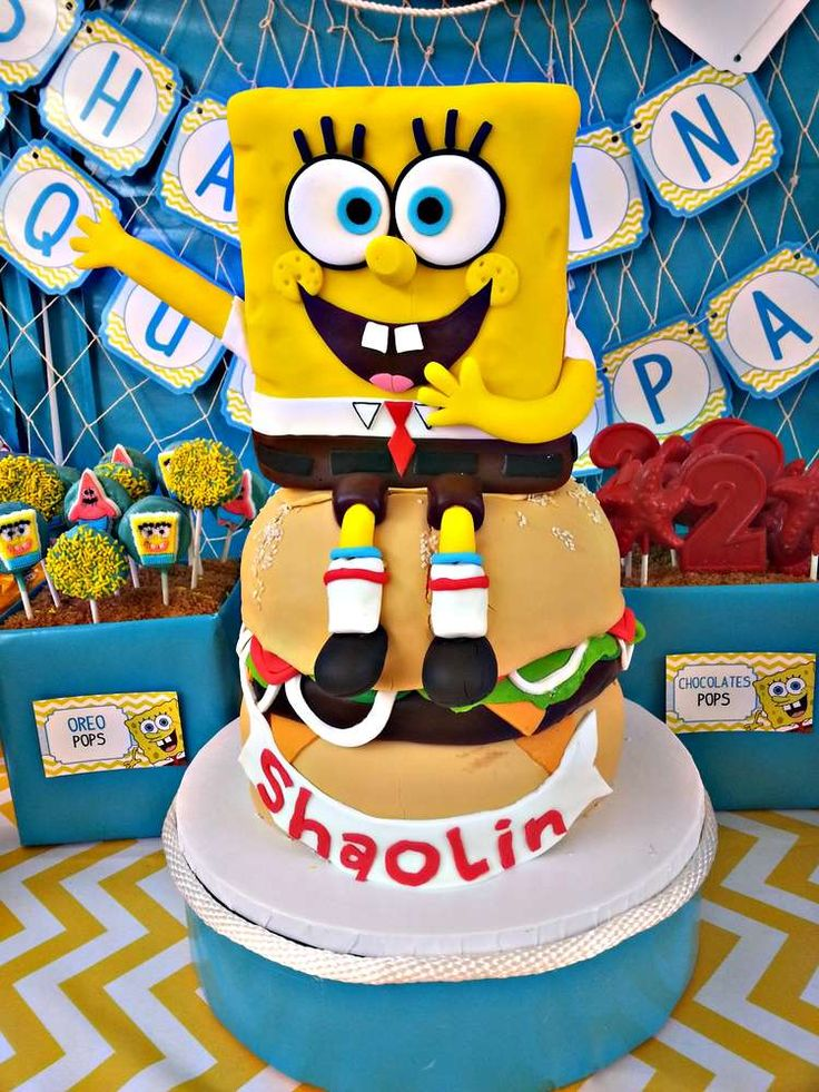 Spongebob Square Pants Birthday Party Ideas   Photo 5 of 33   Catch My Party