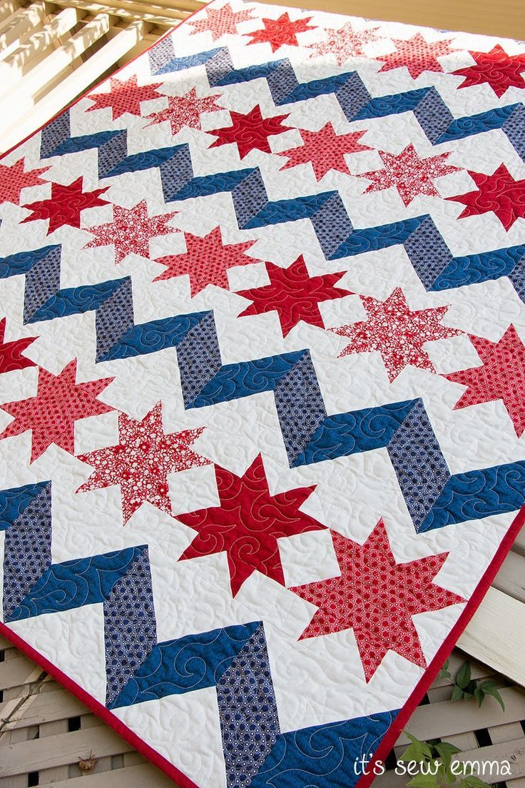 Chevrons and Stars quilt by Gerri Robinson @Craftsy