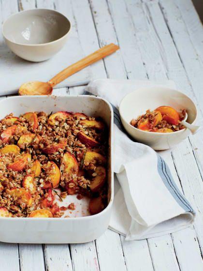 Julie Montagu 'Superfoods Superfast' Peach & Rosemary Crumble   Stylight