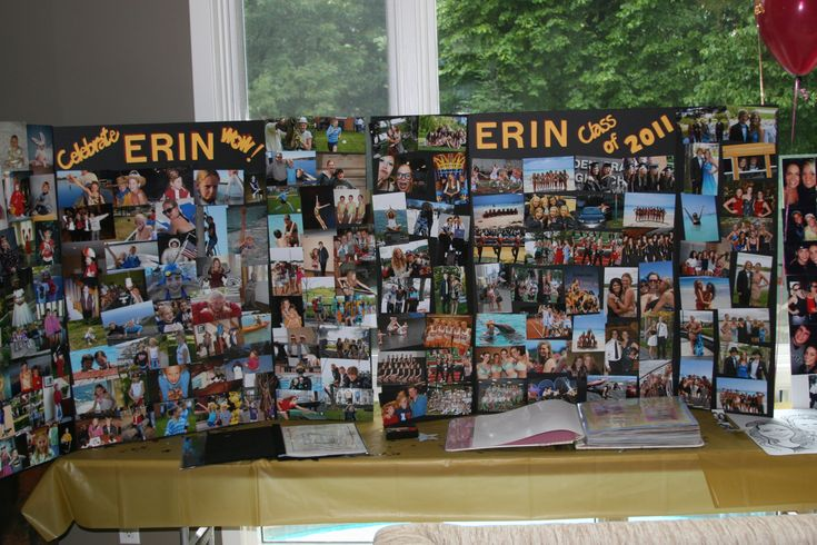 Graduation Party Ideas | Erin's Graduation Poster Boards