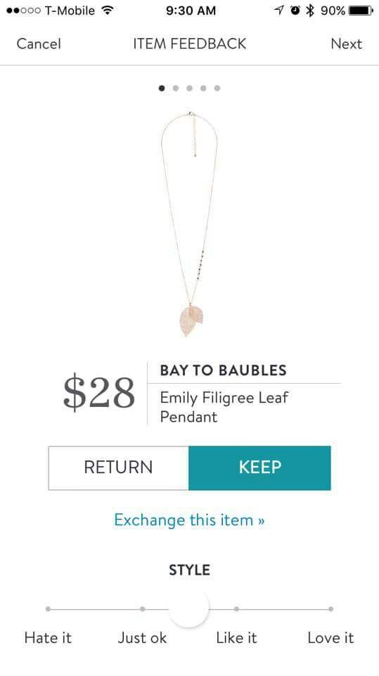 Stitch Fix Bay to baubles pendant