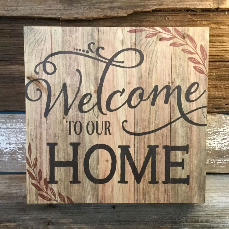 Pallet Sign-Welcome To Our Home                                                                                                                                                                                 More