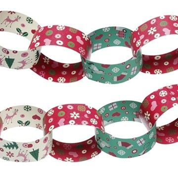 Fifties Christmas Paper Chain Kit Decoration
