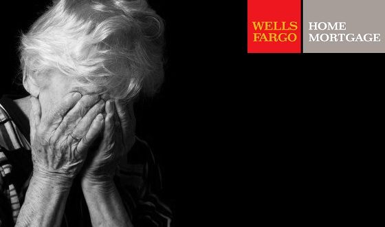 Wells Fargo is trappingelderly widows in a horrific Catch-22scenario in order to take their homes.  Imagine: Your husband passes away and you fall behind on your mortgage payments. Your income has been drastically reduced, so you seek to renegotiate with the bank. But the bank won't renegotiate, because your husband's name is on the mortgage note, and you can't add your name to the note, because you are not current on your payments.You're out of work, you've just lost your husband, and…