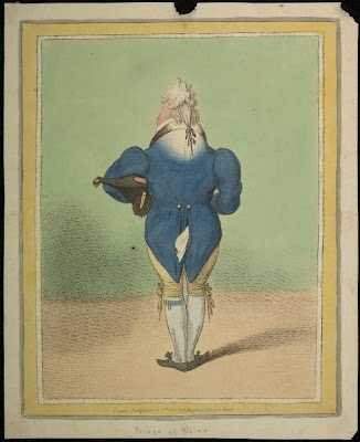 Prince of Wales, 1802, by James Gillray. #Georgian #Caricature #Gillray