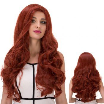 Long Side Parting Wavy Ombre Synthetic Wig (COLORMIX) in Synthetic Wigs | DressLily.com