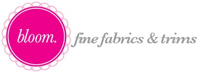 Bloom Fabrics Shop Australia - Organic fabric + trims and Japanese magazines.