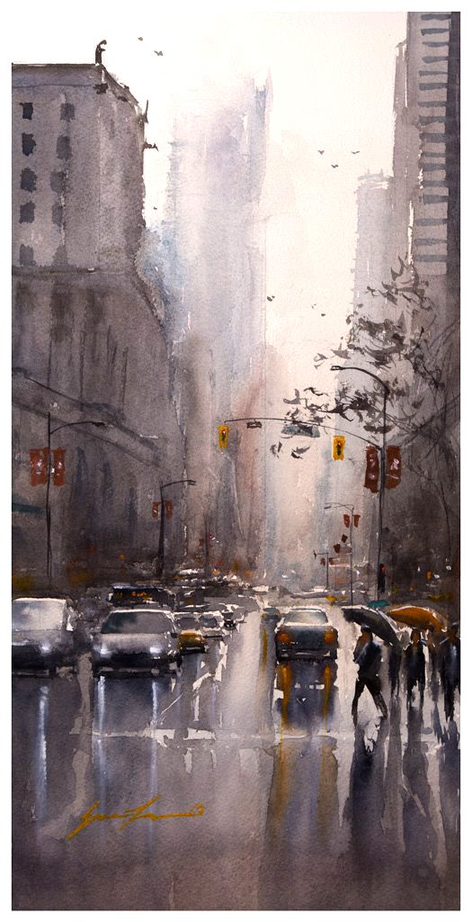 Eric Yi Lin, Afternoon in Vancouver - 10x20