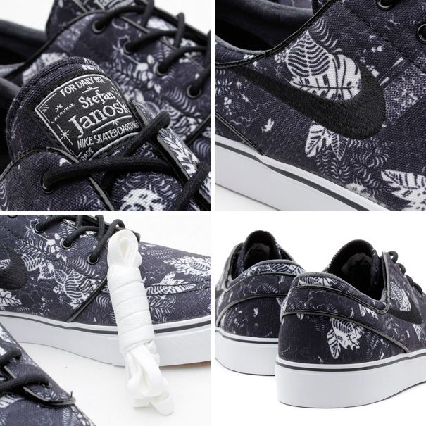 NIKE SB ZOOM STEFAN JANOSKI (ナイキズーム ステファン ジャノスキ) BLACK FLORAL 333824-022 【スニーカー通販】人気プランド店舗は全品送料無料!靴の総合通販ナイキ、ニューバランス、プーマなどの人気スニーカーを販売しています。 Nice graphic approach, it makes use of the whole shoe. The illustration itself is a little lost on the shoe though