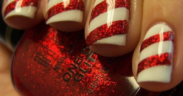 Candy cane nails, Candy canes and Canes on Pinterest