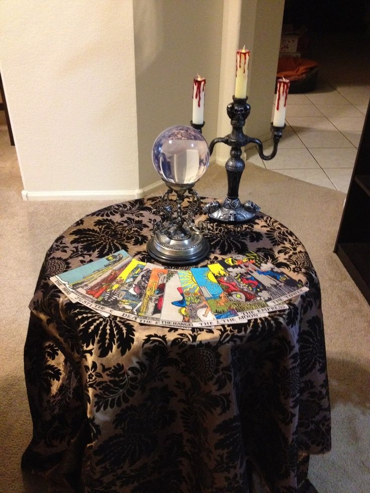 gypsy fortune telling halloween party halloween fortune teller table - Adult Halloween Decorations