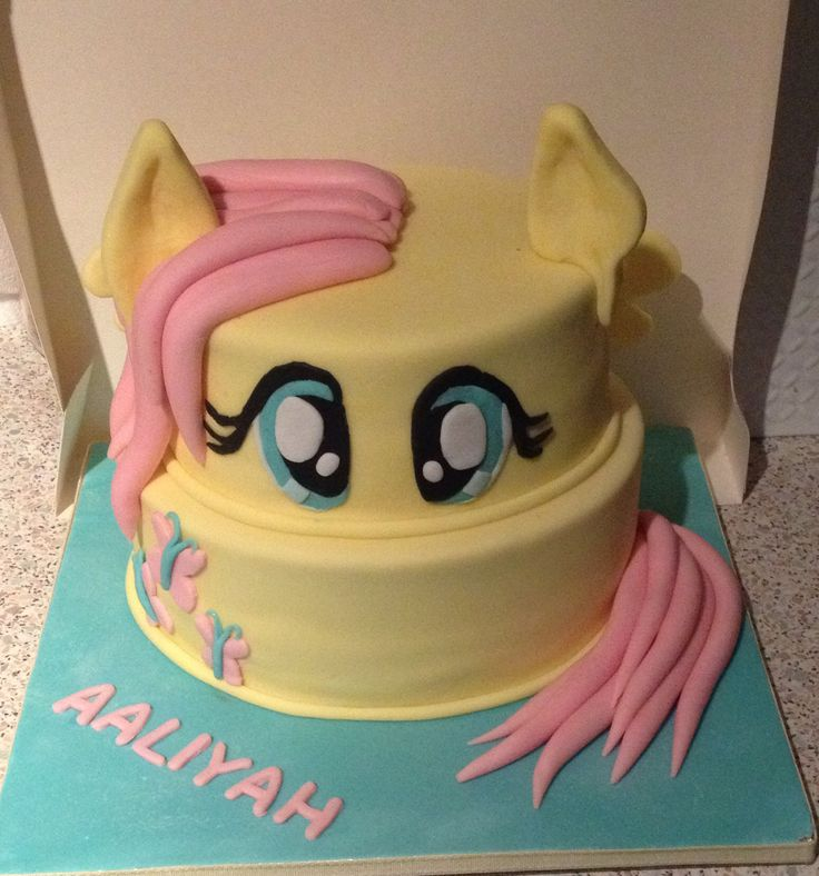 My little pony fluttershy cake. Maybe for Katie's 4th birthday
