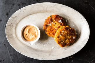 Sweet Potato Salmon Cakes with Chipotle Mayo Recipe on Food52 recipe on Food52