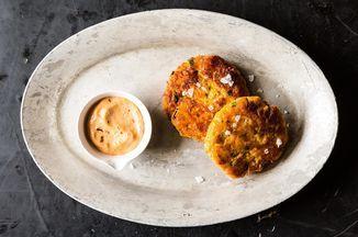Sweet Potato Salmon Cakes with Chipotle Mayo Recipe on Food52 recipe on Food52