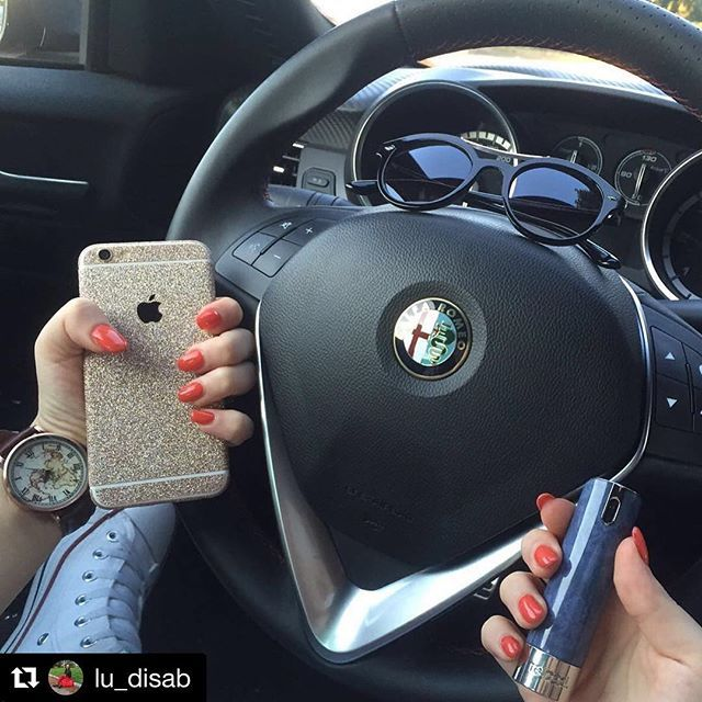 Our Design Skins will also fit to your car. ❤️💚📲🚗 Thanks @lu_disab 😘 Friday! #PhoneStar #Cars #instadaily #italystyle #parfume #instalove #beaphonestar #yourstyle #classy #friyay #italy #germany #worldwide #iphone6 #iphone7