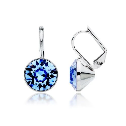 Bella Light Sapphire Blue Crystal Drop Earrings with Swarovski® Crystals