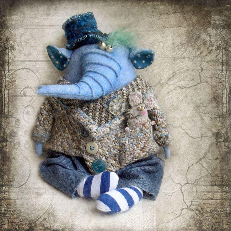 Слон и мышь. Куклы Ольги Турченко