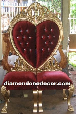 Baroque Heart Shaped French Reproduction Rococo Wedding Sofa. Stunning Hand  Crafted Mahogany Chair Set Is