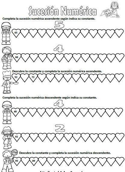 Actividades de sucesiones numéricas para tercer y cuarto grado - http://materialeducativo.org/actividades-de-sucesiones-numericas-para-tercer-y-cuarto-grado/