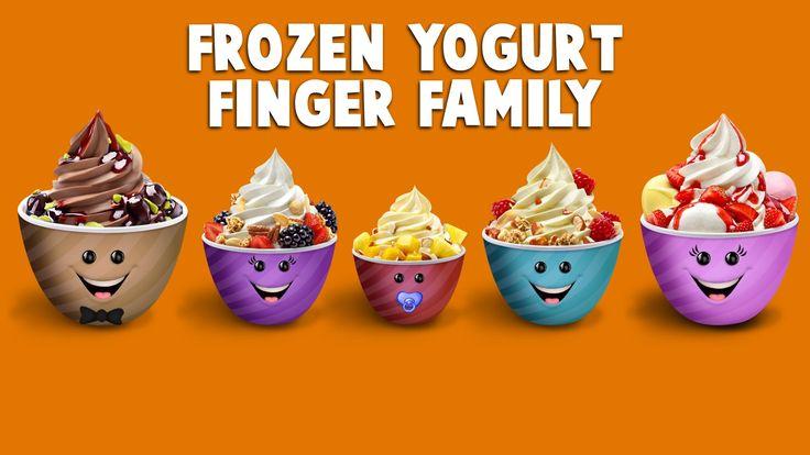 The Finger Family Frozen Yogurt Family Nursery Rhyme   Yogurt Finger Family Songs
