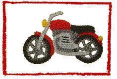 Motorrad+von+SaVö-Design+Häkelapplikationen+auf+DaWanda.com