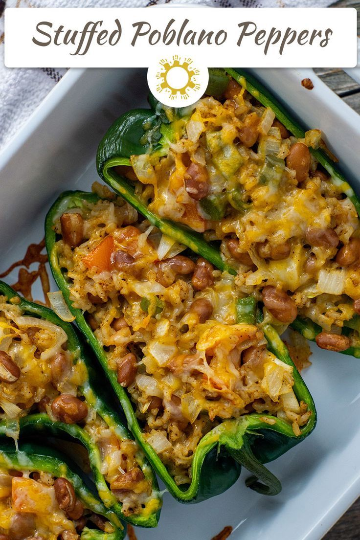 Taco Stuffed Poblano Peppers Recipe In 2020 Stuffed Peppers Stuffed Poblano Peppers Rice Recipes For Dinner