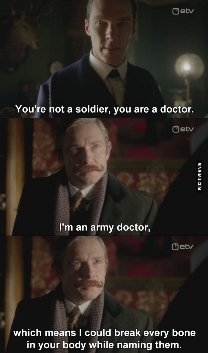 Bad Ass Dr. Watson - 9GAG