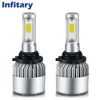 Infitary 9005 LED Car Headlight Bulbs Single Beam 72W 8000LM 6500K Auto Headlamp Cob LED 12V 24V Front Car Bulb HB3 Fog Lamps