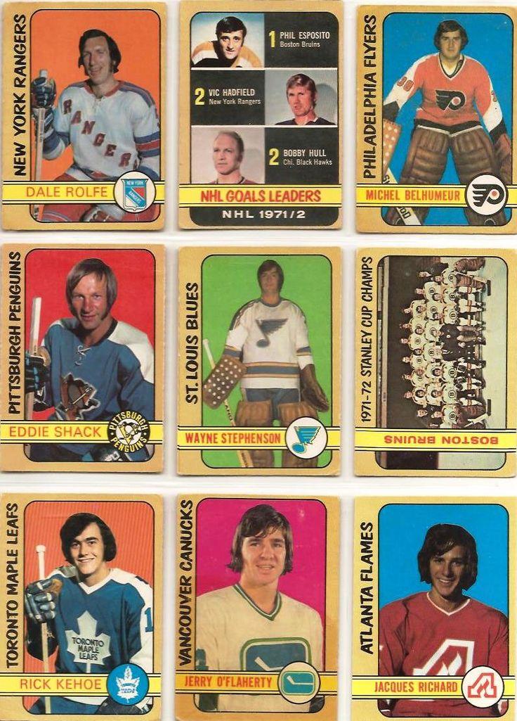 271-279 Dale Rolfe, Goals Leaders, Michel Belhumeur, Eddie Shack, Wayne Stephenson, Boston Bruins, Rick Kehoe, Gerry O'Flaherty, Jacques Richard