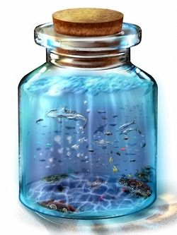 Bottle 'em up! Source:http://www.pixiv.net/info.php?id=2736 #pixivspotlight