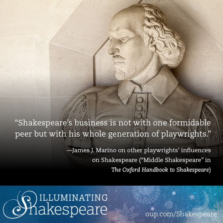 Christopher Marlowe, Thomas Kyd, George Peele, Robert Greene, Michael Drayton, Thomas Nashe, Ben Jonson, and many more are considered to be a part of Shakespeare's original group of contemporaries. From them and other earlier playwrights, Shakespeare often drew inspiration. #collaboration #playwrights