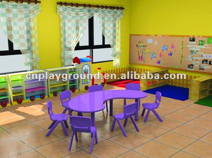 Source FURNITURE TABLE ,CE CERTIFICATE MOON SHAPE KINDERGARTEN TABLE (H-05705) on m.alibaba.com